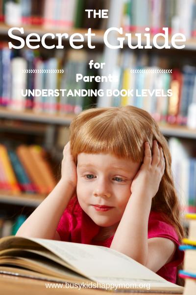 Secret Guide to Understanding Book Levels for Parents. Grades Kindergarten - Second Grade