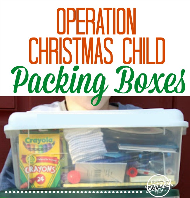 Pack Operation Christmas Child boxes inexpensively with this list
