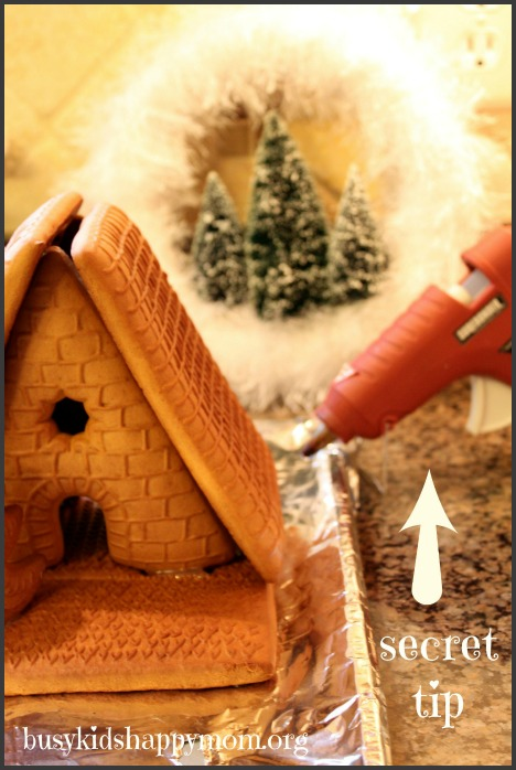 Secret Tip to Making Gingerbread Houses Quickly