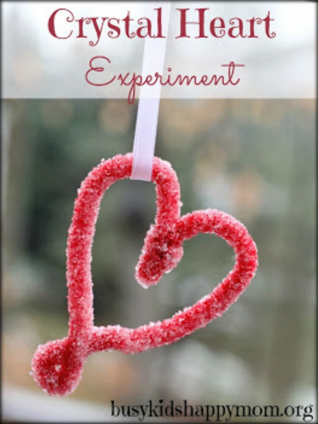 How to make a beautiful crystal heart with a science experiment.