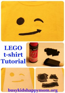 LEGO T-shirts with Freezer Paper Stencil