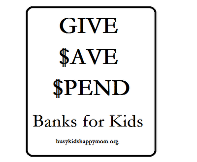 Teaching Kids About Money With Give Save Spend Banks
