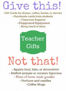 Gifts Teachers Appreciate
