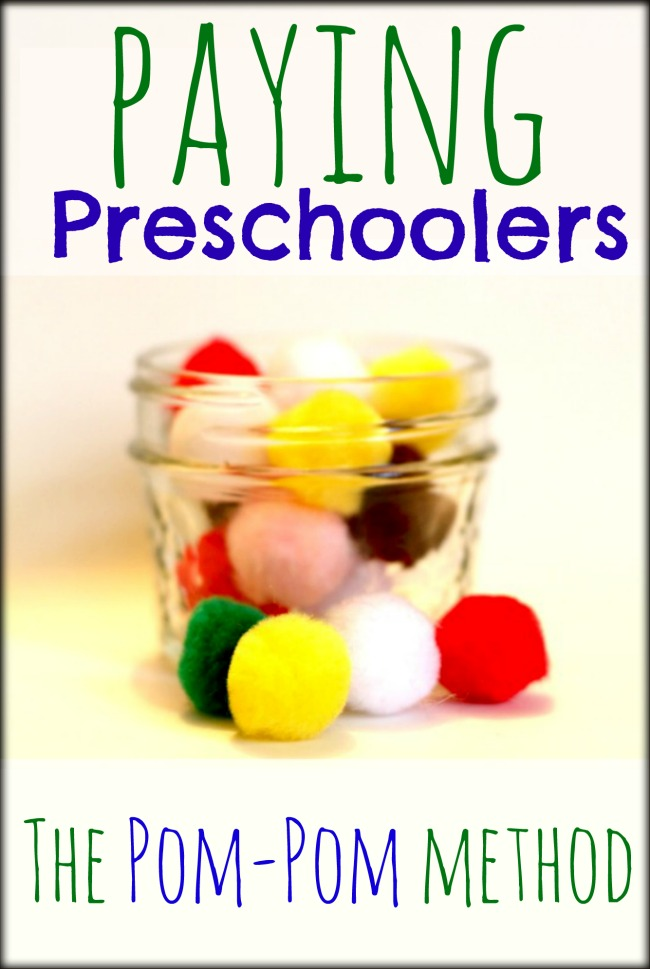 Paying Preschoolers and learning about earning at a young age