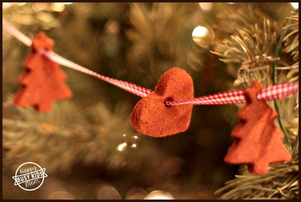 Christmas cinnamon ornaments