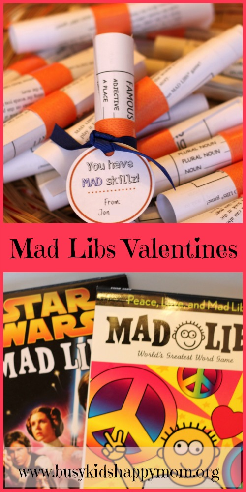 Mad Libs Valentines fun