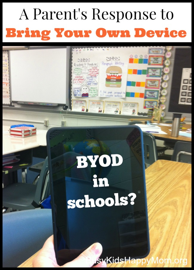 "How do you feel about children bringing their own devices to school? It's called ""BYOD in the classroom""."