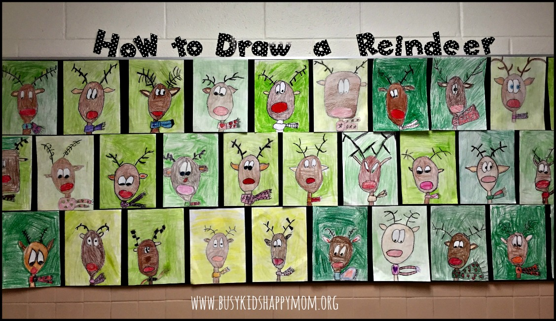 how to draw a reindeer step by step easy