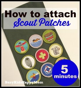 The Trick to Putting on Scout Badges