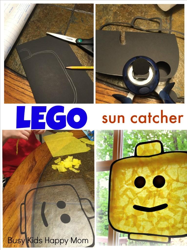 LEGO minifigure sun catcher