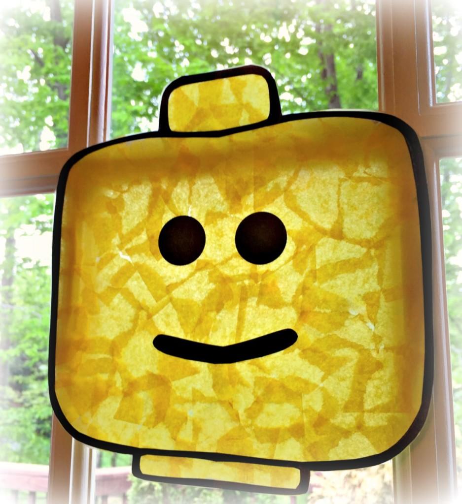 Lego head sun catcher