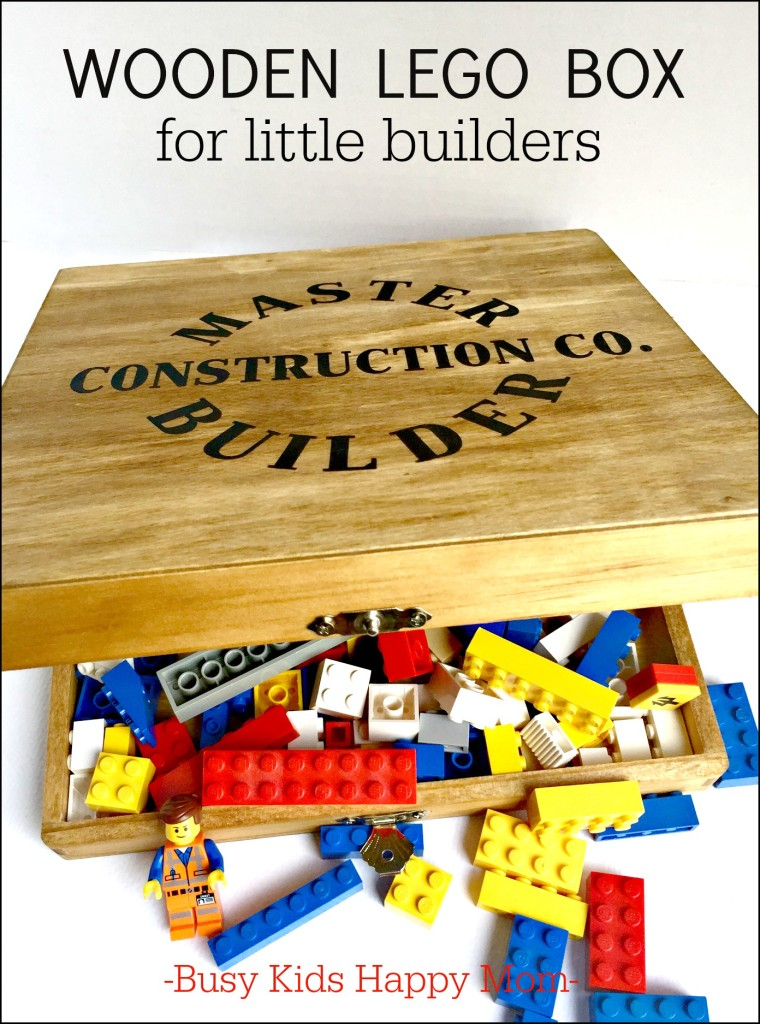 Wooden LEGO Box, vintage inspired for a classic toy from Busy Kids Happy Mom