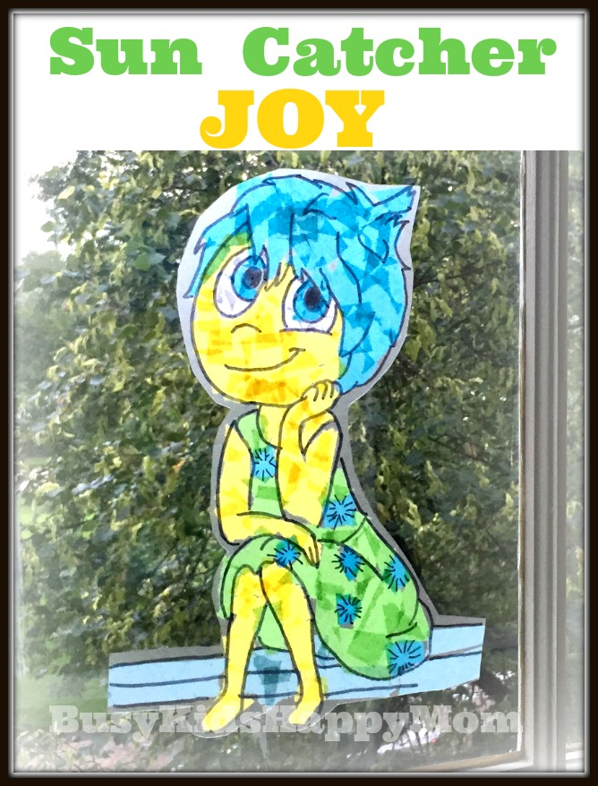 Tissue Paper Sun Catcher By Tracing A Coloring Page Easy Joy From Inside Out