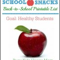 Back to School Snack List