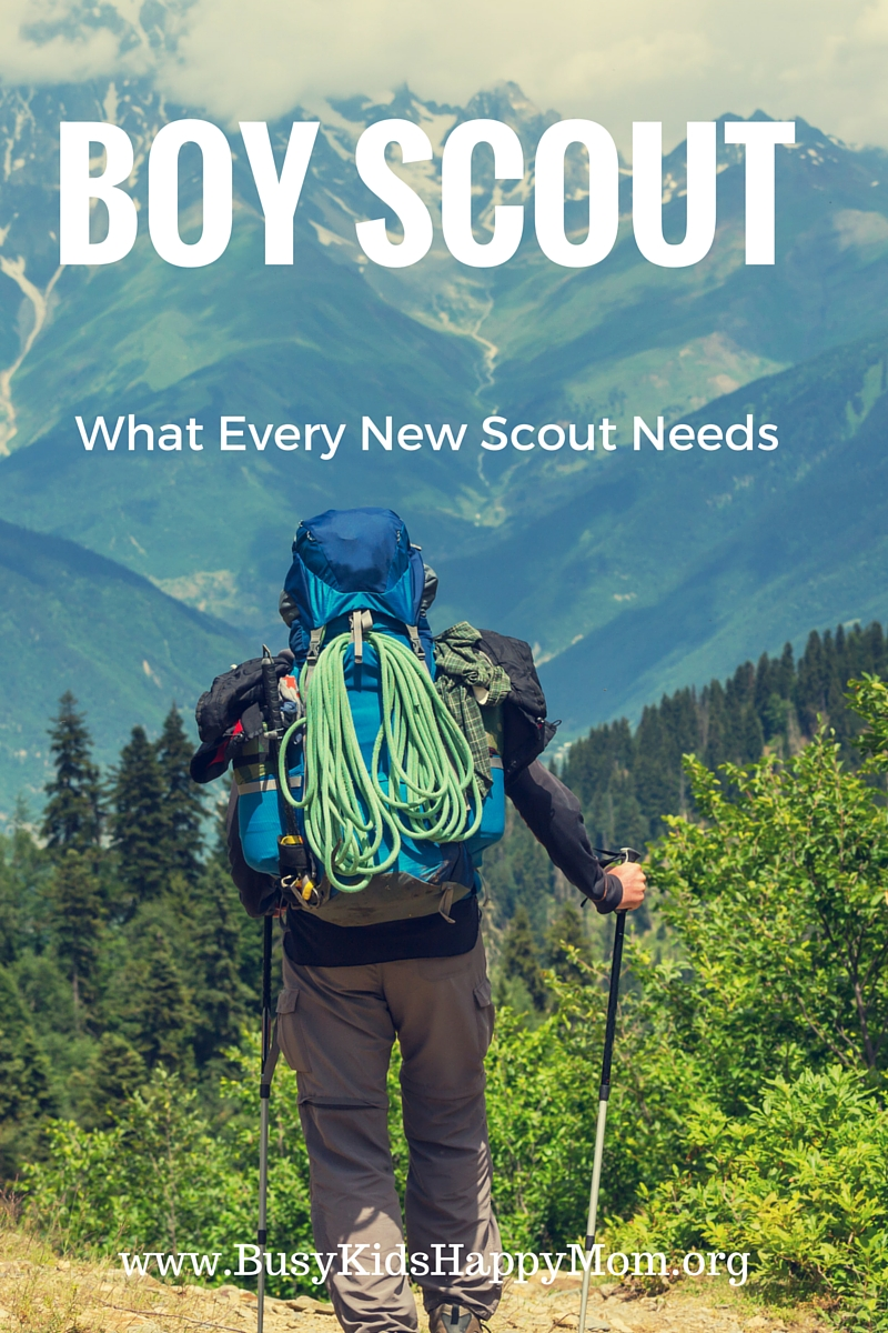 Gear list for new Boy Scouts