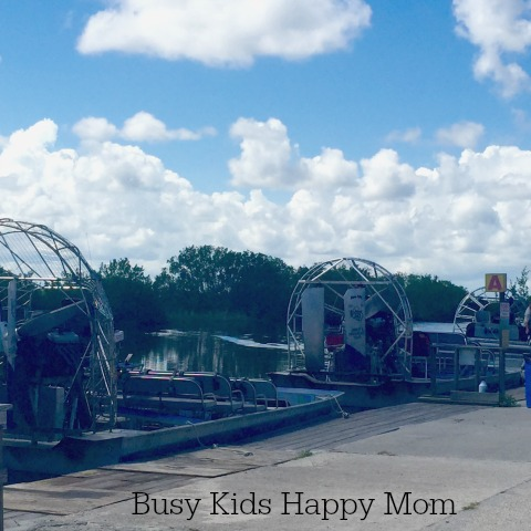 Airboats in Florida Everglades