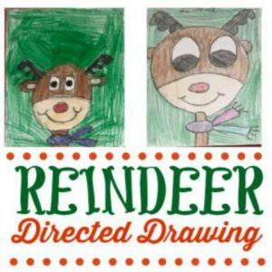 How to Draw a Reindeer (with printable directions)