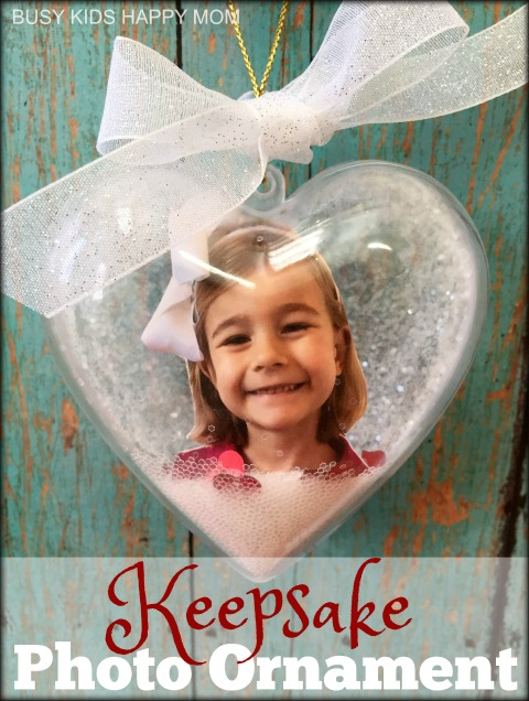 Photo Ornament. Keepsake Gift. Mother's Day. Christmas. Valentine's Day. Christmas Craft.