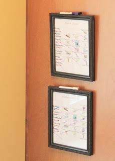 dry erase chore chart