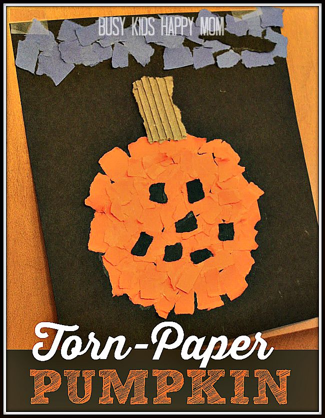 Looking for an adorable Halloween Pumpkin Craft? Great for home or the classroom.