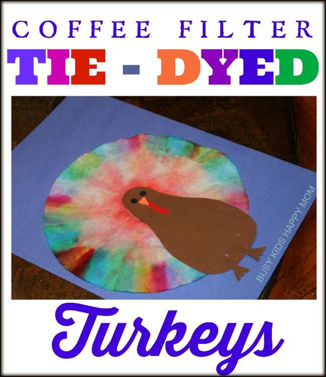 Coffe Filter Tie dyed turkey
