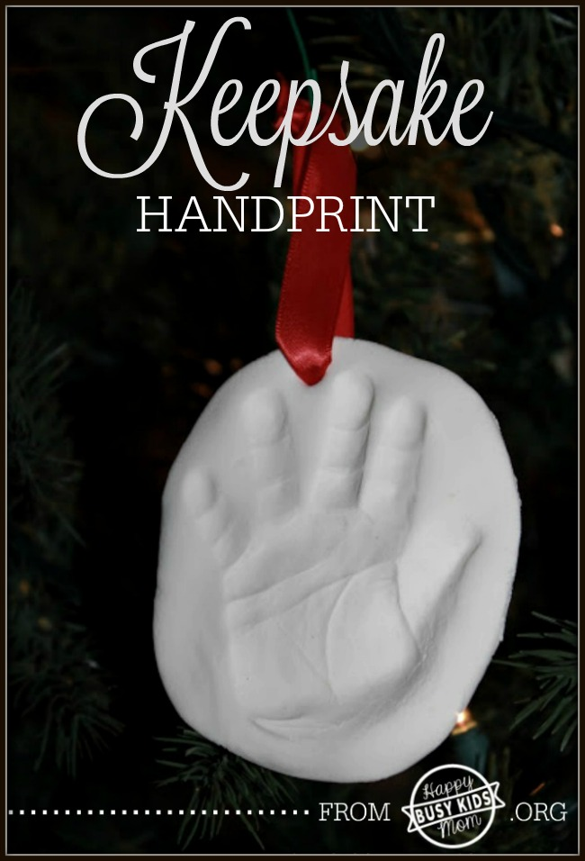 18+ Homemade Christmas Ornaments - like this Sweet Baby Keepsake Handprint Ornament