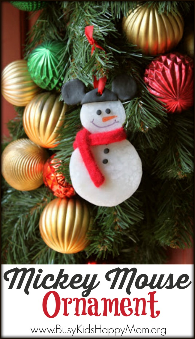 Mickey Mouse Snowman Ornament
