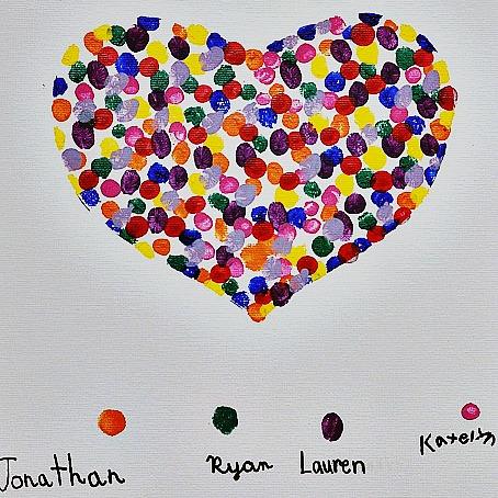 Easy Mother's Day Crafts - fingerprint heart