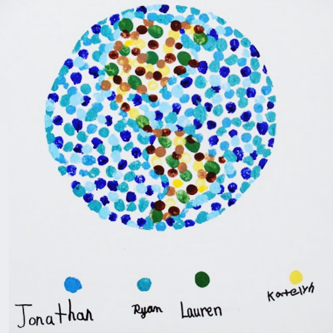 Fingerprint World - collaborative kid made gift