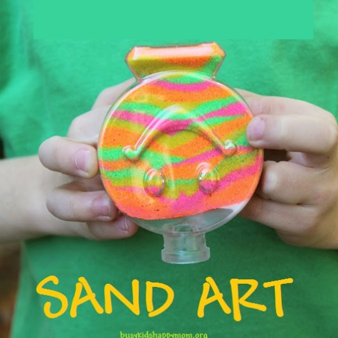 The secret trick to sand art with kids.
