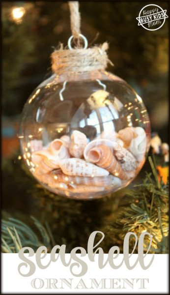 Make a simple seashell ornament