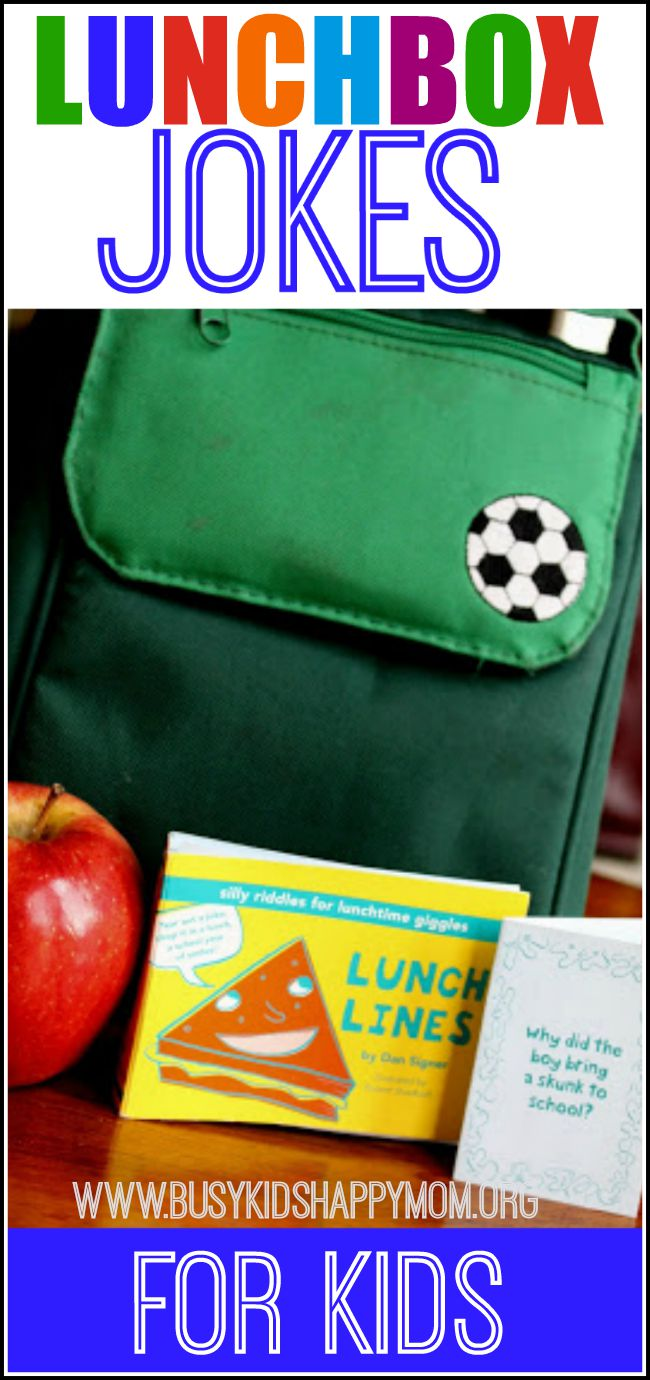 Lunch box jokes - lots of ideas for funny kids jokes.