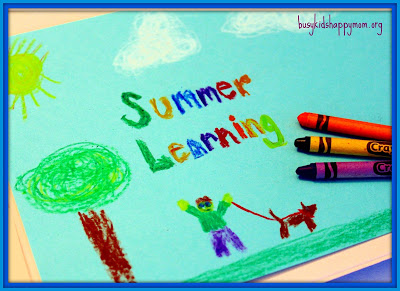 "DIY Summer School. Fun ideas for each day of the week and simple activities to stop the ""summer slide"" (forgetting what you know over the summer)>"