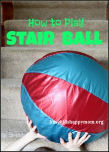Unplugged Play Series: Stair Ball (invented by an 8 year old)