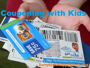 Teaching Kids to Save Money with Coupons