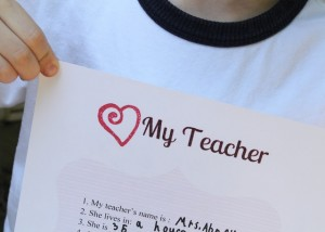 Teacher Appreciation Questionnaire {free printable}