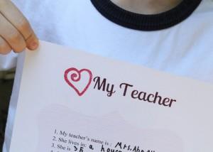 Teacher Appreciation Questionnaire {free printable}