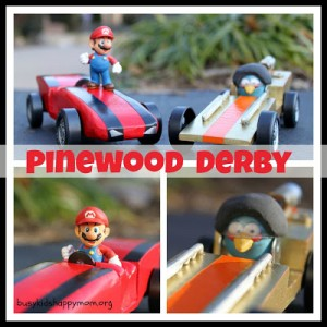 Angry Birds and Super Mario Pinewood Derby Cars