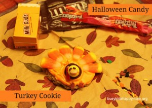 Turkey Cookies from Leftover Halloween Candy
