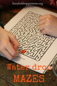 Water Drop Game Using A Printable Maze