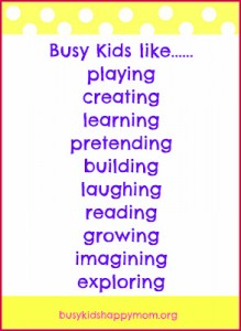 What Does a Busy Kid Look Like?