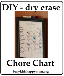 How to Make an Awesome Dry Erase Chore Chart