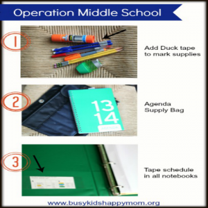 Tips and Ideas for Starting Middle School