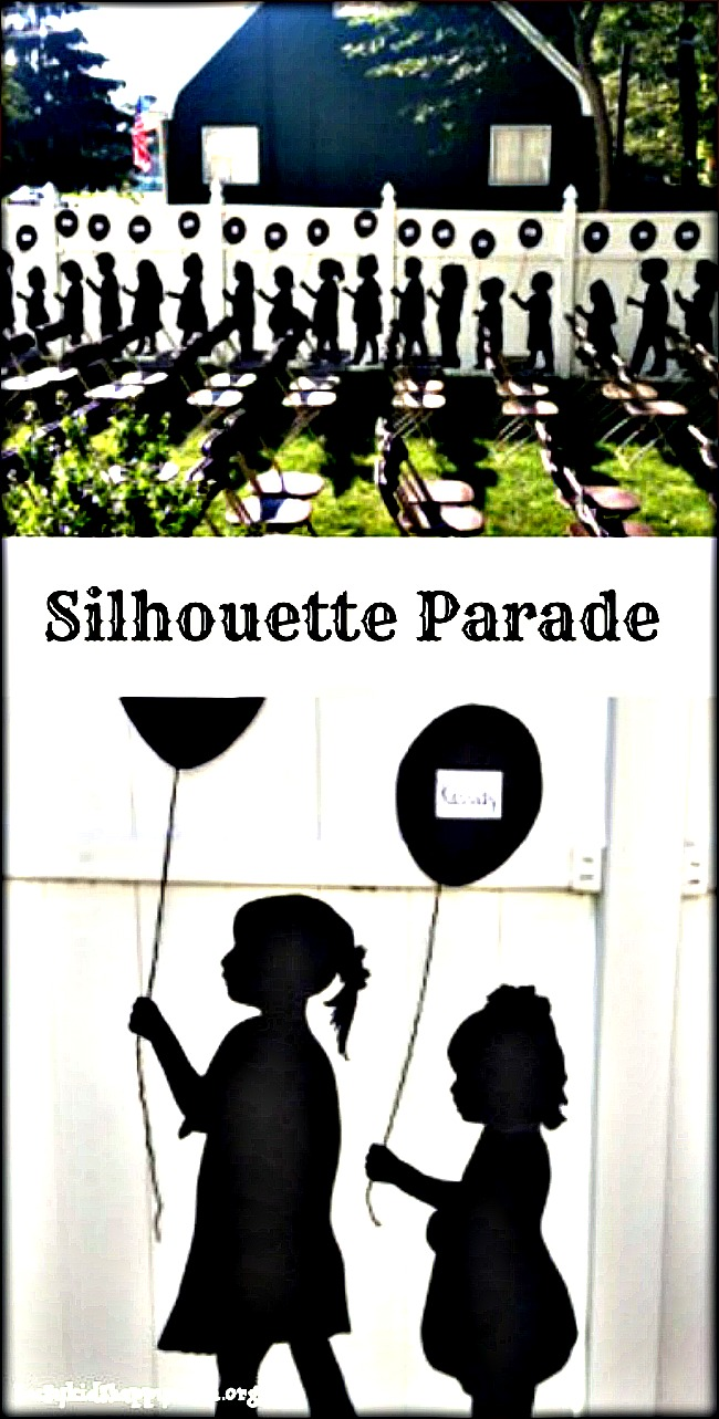 Silhouette parade for special events.