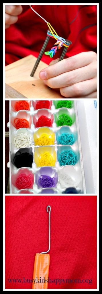 How to make your own loom for easy rainbow loom bracelets.