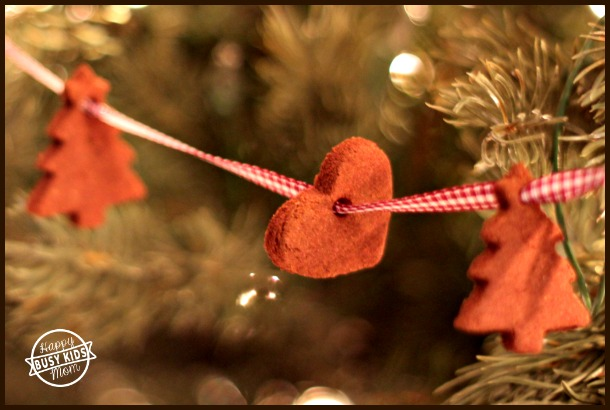 Make beautiful smelling cinnamon ornaments with this cinnamon ornaments recipe.