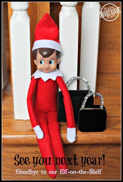 Day 24 - Goodbye to our Elf on the Shelf, Elf Suitcases made out of earring boxes and pipe cleaners