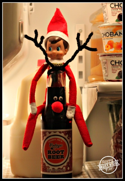 Day 6 Reinbeer Elf - a favorite for all, found in the fridge