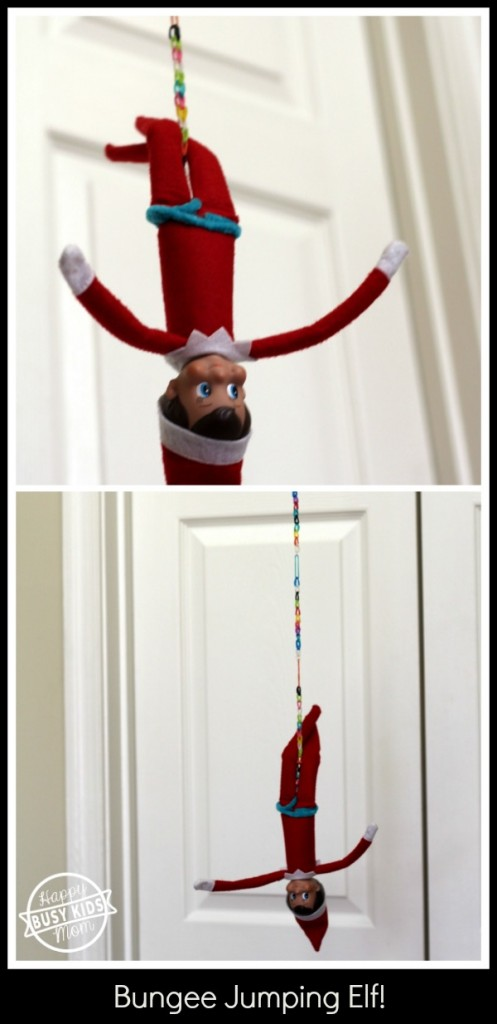 Day 8 Bungee Jumping Elf with Rainbow Loom