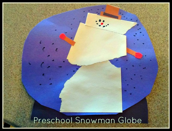 Preschool Snowman Globe
